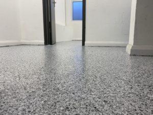 Resin flooring for CNC